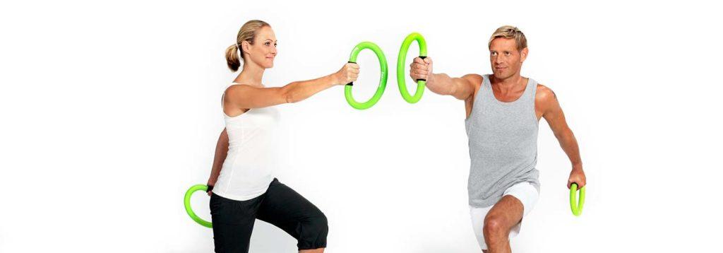 Mann und Frau beim smovey Workout
